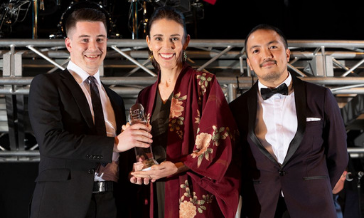 PushPay and Jacinda Ardern at the NZ Hi Tech Awards